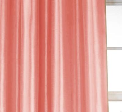 Dekor World Solid Crush Curtain Fabric(Peach, 15 m)