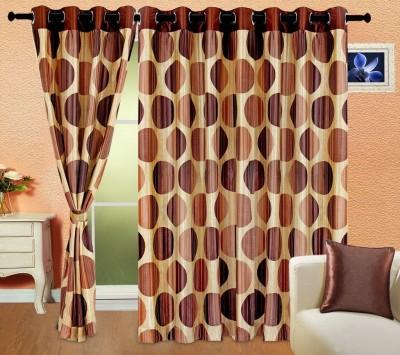 Cortina 5005 Curtain Fabric(Coffee, 2 m)