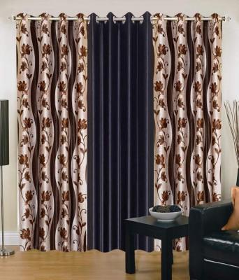 Shopgrab Polyester Multicolor Printed Eyelet Door Curtain