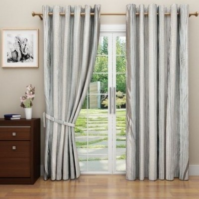 G M HomeFashion Polyester Multicolor Abstract Eyelet Door Curtain