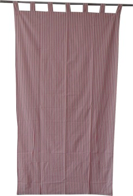 Adt Saral Cotton Multicolor Striped Eyelet Door Curtain