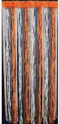 Homesazz Polyester Multicolor Striped Rod pocket Long Door Curtain