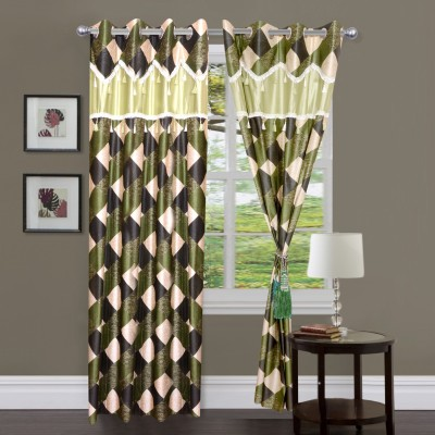 Newhome Polyester Multicolor Abstract Eyelet Door Curtain