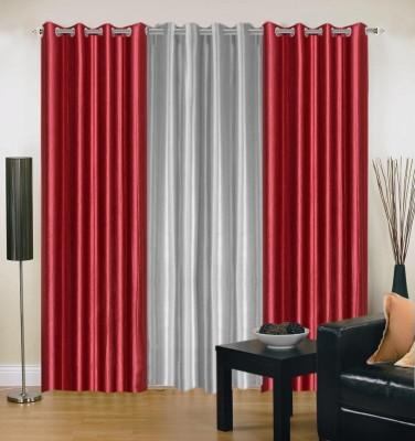 Brabuon Polyester Multicolor Plain Eyelet Door Curtain