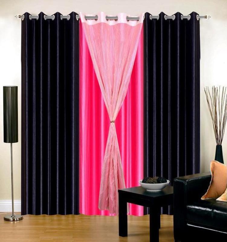 Черно розовые шторы