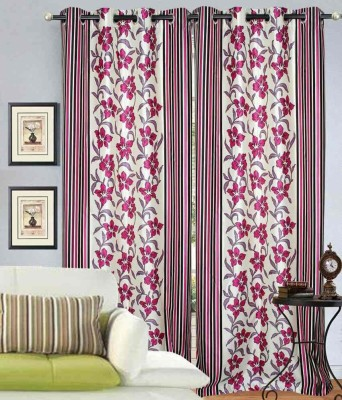 sapphires Polyester Multicolor Printed Eyelet Door Curtain