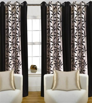 Profabhome Polyester Multicolor Solid Eyelet Long Door Curtain