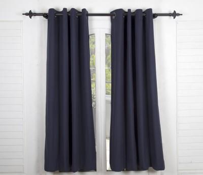 Maspar Cotton Black Striped Eyelet Door Curtain