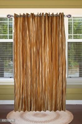 shoppeholics Polyester Golden Self Design Curtain Door Curtain