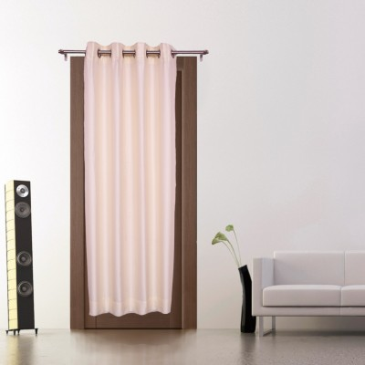 Zappy Cart Polyester Cream Solid Curtain Door Curtain
