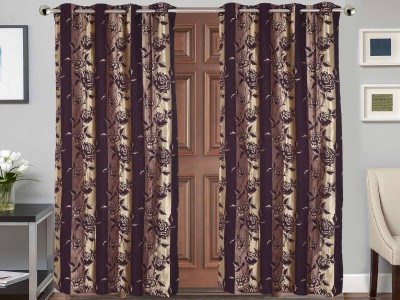 Vivace Homes Polyester Multicolor Floral Eyelet Door Curtain