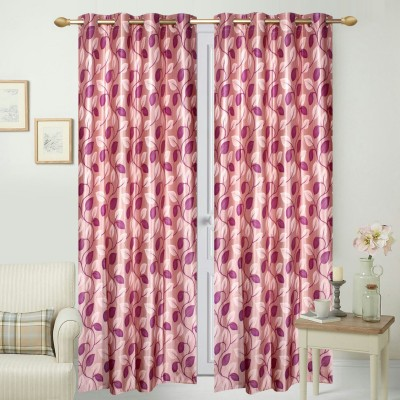 Fabbig Polyester Multicolor Printed Eyelet Window Curtain