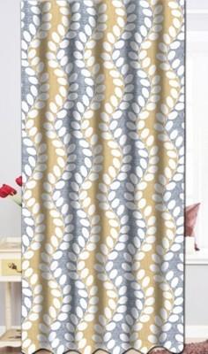 Drapez Polyester Pastels Printed Eyelet Door Curtain