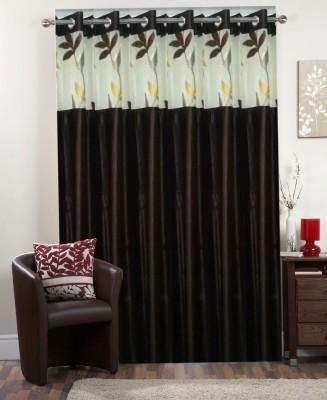 I-LivSmart Polyester Royal Coffee Plain Curtain Long Door Curtain