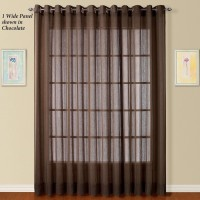 Adorro Polyester Brown Solid Curtain Long Door Curtain(274 cm in Height, Pack of 2)