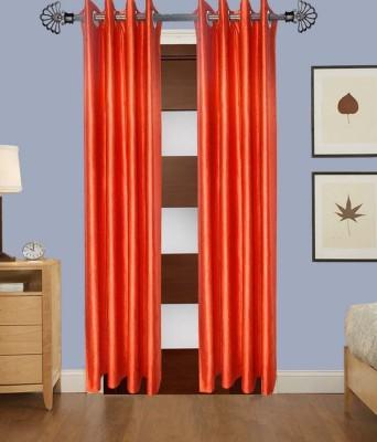 Shiv Shankar Handloom Polyester Multicolor Plain Eyelet Door Curtain