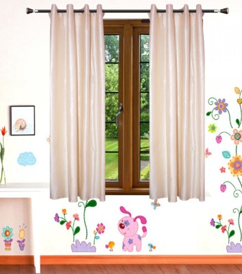 Shop Since Polyester White Plain Eyelet Window Curtain