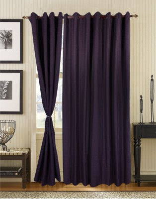 S9home by Seasons Polyester Purple Abstract Eyelet Door Curtain