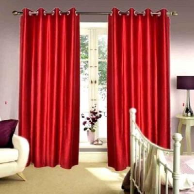 Harry Tex Polyester Marrun Solid Eyelet Door Curtain