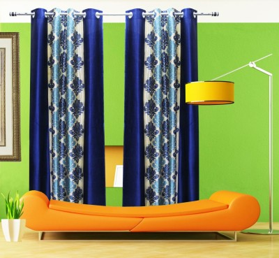 Home Fashion Gallery Polyester Multicolor Printed Eyelet Door Curtain