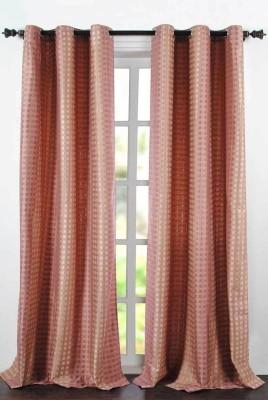 Deco Essential Polyester Burn Rose Plain Eyelet Window Curtain