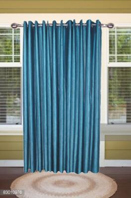 shoppeholics Polyester Sky Blue Plain Curtain Door Curtain