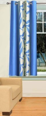 RedHot Polyester Blue Floral Eyelet Window Curtain