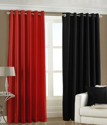 Sai Arpan Polyester Multicolor Solid Eyelet Window Curtain