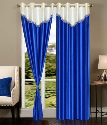 Jai Ganga Polyester Multi Colour Plain Curtain Door Curtain