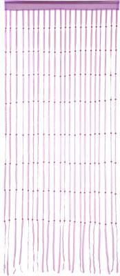 Ramcha Polyester Pink Self Design Rod pocket Door Curtain