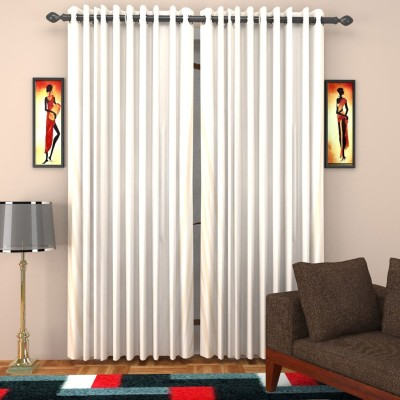 SurprizeMe Polyester Cream Solid Eyelet Window Curtain