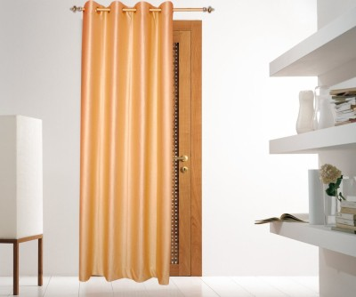 Batham Sales Blends Beige Plain Eyelet Long Door Curtain