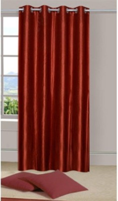 Sai Arpan Polyester Brown Plain Eyelet Door Curtain