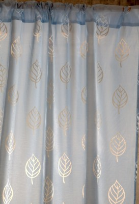 Ocean Homestore Polycotton Blue Self Design Curtain Door Curtain