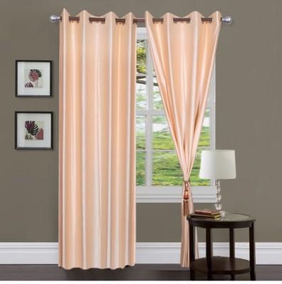 Sai Arpan Polyester Beige Solid Eyelet Door Curtain