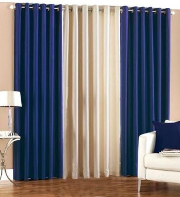 Z Decor Polyester Multicolor Solid Eyelet Door Curtain