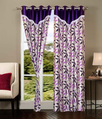 Creativehomes Polyester Multicolor Floral Eyelet Window Curtain