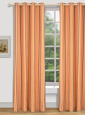 House This Cotton Brown Floral Eyelet Door Curtain