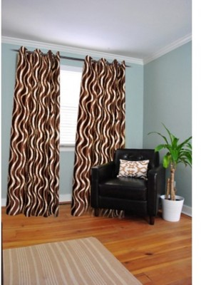 Brabuon Polyester Multicolor Printed Eyelet Long Door Curtain