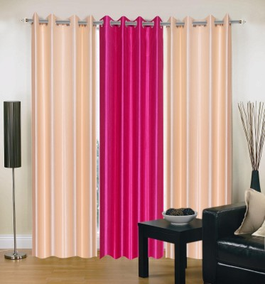 DreamsHomes Polyester Multicolour Solid Eyelet Door Curtain