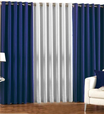 Trendz Home Furnishing Polyester Multicolor Self Design Eyelet Door Curtain
