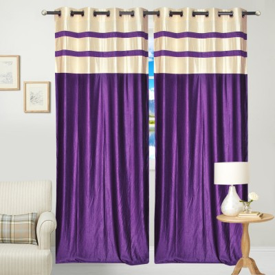 Fresh From Loom Polyester Purple Abstract Curtain Door Curtain