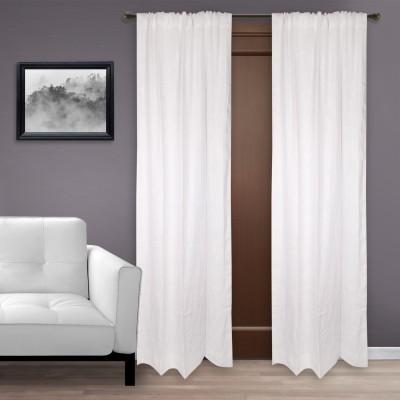 Marmitte Cotton White Plain Rod pocket Long Door Curtain