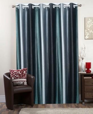 I-LivSmart Net Silver Brown Floral Curtain Door Curtain