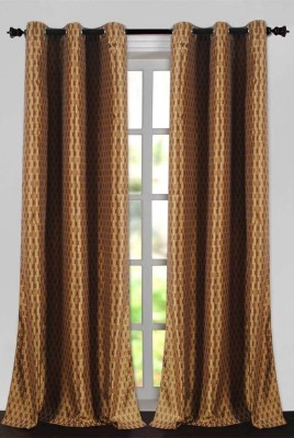 Deco Essential Polyester New Brown Plain Eyelet Door Curtain