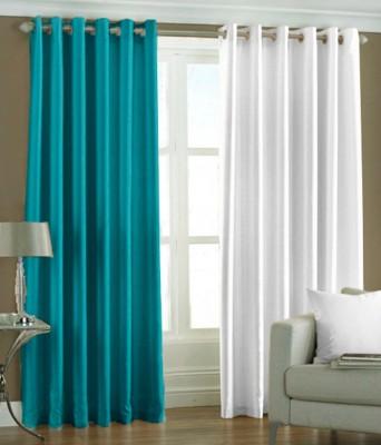 Export Hub Polyester Multicolor Plain Eyelet Door Curtain