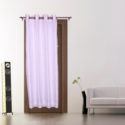 Zappy Cart Polyester White Solid Curtain Long Door Curtain