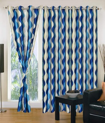 Shopgrab Polyester Multicolor Printed Eyelet Door Curtain
