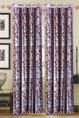 JASS HOME DECOR Polyester Multicolor Floral Curtain Door Curtain