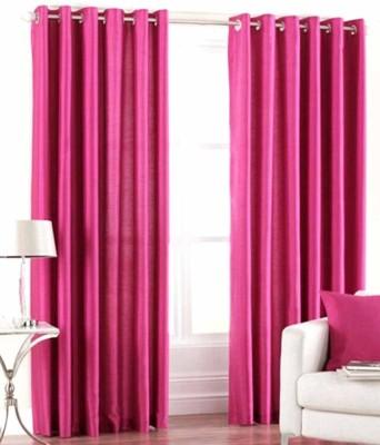 Elegance Overseas Polyester Multicolor Solid Eyelet Door Curtain